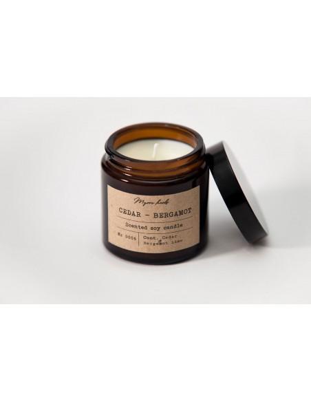 Κερί σόγιας Κέδρος - Περγαμότο